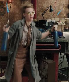 Just Holtzmann casually dancing with torches