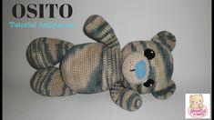 OSITO TEDDY Tutorial - YouTube Tutorial Amigurumi, Knitting Videos, Crochet Toys, Teddy Bear, Make It Yourself, Dolls, Amor Youtube, How To Make, Crafts