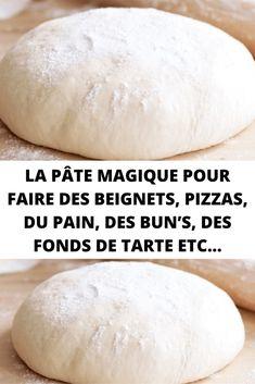 The magic dough to make donuts, pizzas, bread, bun& pie pans etc . Pizza Recipes, Bread Recipes, Cooking Chef, Cooking Recipes, Donuts, Pizza Sandwich, Fat Loss Drinks, Bread Bun, Bread And Pastries