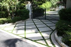 Synthetic lawn services in Miami offer products that are made to perform in hot, cold, wet and dry climates. We have installed and designed thousands of homes and businesses across Florida. Driveway Design, Driveway Landscaping, Driveway Pavers, Driveway Ideas, Walkway, Driveway Materials, Landscape Design, Garden Design, Grass Pavers