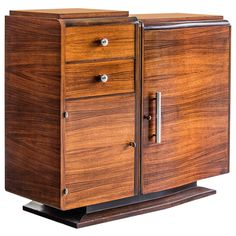 Art Deco Period Palisander Wood Buffet, Original Chrome Pulls, France circa 1930 | 1stdibs.com