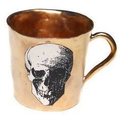 You could drink some serious grog from this handmade German skull mug.