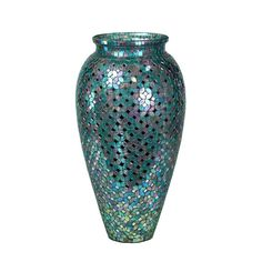 Ariadnee Mosaic Glass Floor Vase for Library.
