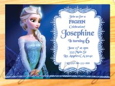 Frozen Birthday Party Frozen Invitation Disney by BogdanDesign, $5.99