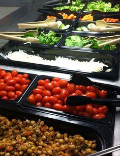 Beautiful salad bar from Saint Paul Public Schools.