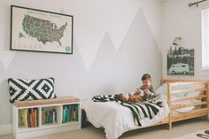 Today was one of those days where if I were a GPS I would have sounded like ' Recalculating route. Boys Room Wallpaper, Surf Room, Minimalist Room, Kids Room Wall Art, Kids Room Design, Baby Boy Rooms, New Room, Kids Bedroom, Room Decor