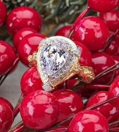 Sparkle more this season with a ring as unique as you! We love the pear shape stone and design of this ring! Plus, there's nothing like 6 carats of shine to brighten your outfit and outlook on a cold winter day!. [Promotional Pin]