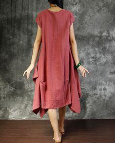 09f327dcdd2b Oversized Linen dress