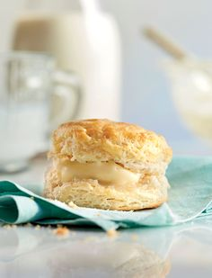 Southern Living Best Buttermilk Biscuits - self rising flour, stuck of grated butter and buttermilk.