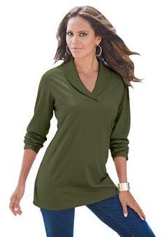 Plus Size Clothing - Fashion for Plus Size women at Roaman's Basil Sm