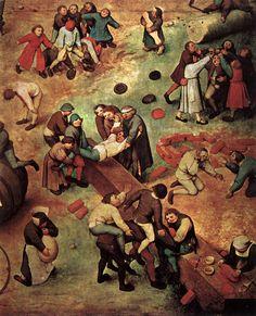 Bruegel Paintings | Childrens Games 2 by Pieter The Elder Bruegel, 1559-1560