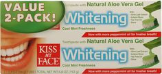 Kiss My Face Toothpaste with Aloe Vera Gel Whitening - Value Pack - Cool Mint Flavor