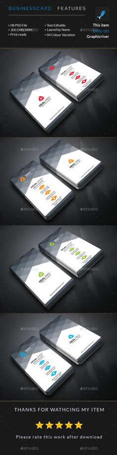 Creative Business Card Design Template - Business Cards Print Template PSD. Download here: https://graphicriver.net/item/creative-business-card/17762944?ref=yinkira