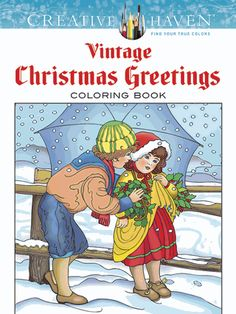<P>Derived from rare sources, 31 timeless images re-create authentic holiday greeting cards featuring smiling Santas, cherubic children, decorated trees, snowy scenes, and other traditional motifs. Previously published as <I>Vintage Christmas Greetings Coloring Book</I>.