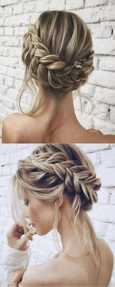 13 Easy Updos for Short Hair. formal updo hairstyles fancy hairstyles for short hair easy updo hairstyles hair updos for long hair simple updo hairstyles elegant wedding hairstyles. All of the elegance, none of the fuss. Easy Updo Hairstyles, Trendy Hairstyles, Hairstyle Ideas, Hair Ideas, Bridesmaid Updo Hairstyles, Beautiful Hairstyles, Hairstyles Pictures, Bride Hairstyles Short, Braided Wedding Hairstyles