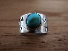 Native indian american turquoise and sterling silver by masriya, $34.00