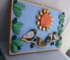 Birds Handpainted Stones Pebble Art Stone Art by StefArtStone