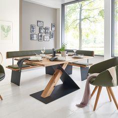 Steel Furniture, Dining Furniture, Furniture Design, Modern Kitchen Cabinets, Kitchen Flooring, Wood Table Design, Diy Dining Table, Woodworking Furniture Plans, Steel House