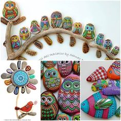 Creative Ideas - DIY Painted Stones and Pebbles #DIY #craft #painted_stones #diycrafts