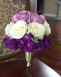 Purple almost ombre wedding bouquet