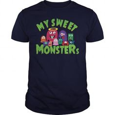 A great gift for your loved ones on Halloween 2017:  My sweet monsters  Tee