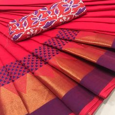 Colourful Chettinad Handloom Cotton Sarees with Kalamkari Blouse Ethnic Sarees, Saris, Cotton Saree, Sarees Online, Online Purchase, Art For Kids, Cool Style, Indian, Popular