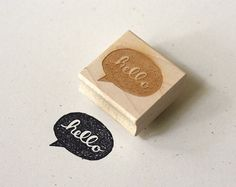 Wit & Whistle » hello speech bubble stamp