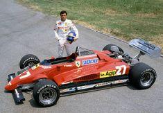 Patrick Tambay joins Ferrari in 1982 after the death of Gilles Villeneuve. Ferrari Scuderia, Ferrari F1, Le Mans, Grand Prix, Classic Car Insurance, Gilles Villeneuve, Formula 1 Car, Race Engines, Indy Cars