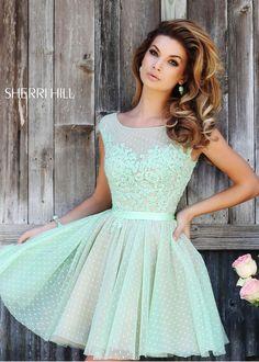 Sherri Hill 11267 Flirty Polka Dot Dress bridesmaids
