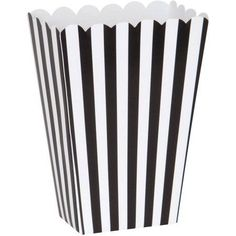 Small Black and White Popcorn Boxes, 8ct