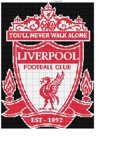 Crocheted Blankets, Fuse Beads, Club, Premier League, Liverpool, Cross Stitch Patterns, Neon Signs, Chart, Knitting