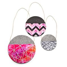 Amazon.com: Craft Crush Wall Pockets - 3 Different Sized DIY Hanging Organizers - Decorate, Assemble and Hang - Crafting Kit for Teens & Adults