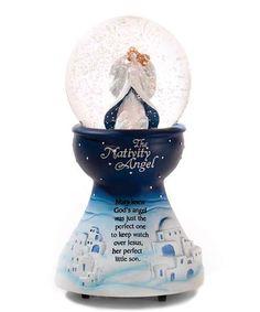Look what I found on #zulily! 'The Nativity Angel' Wind-Up Snow Globe #zulilyfinds
