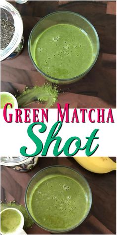 If you are like me are celebrating moments every time you take a sip of a drink or a bite of food, this powerful Green Matcha Shot smoothie will delight you Easy Smoothie Recipes, Easy Smoothies, Fruit Smoothies, Healthy Drinks, Healthy Snacks, Healthy Recipes, Healthy Eating, Shake, Protein