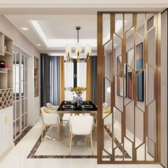 Beautiful Wall Partition Design Ideas For Your Home - Engineering Discoveries Living Room Partition Design, Living Room Divider, Room Partition Designs, Diy Room Divider, Home Room Design, Home Interior Design, Living Room Designs, Interior Decorating, Divider Design