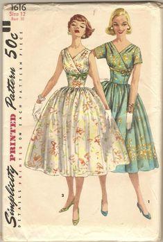 Vintage 1950s Simplicity 1616 Dress Pattern