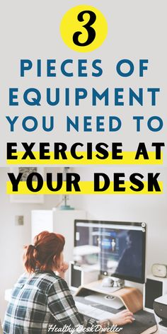 Feeling like you're sitting too much at your desk, working away all day? Beat your sedentary lifestyle and boost your energy and productivity at the same time by using any one of these three pieces of desk exercise equipment in your home office to get moving! #deskexercises #workfromhome #sedentary Exercise At Your Desk, Office Exercise, Office Furniture, Furniture Ideas, Desk Workout, Sedentary Lifestyle, Energy Boosters, Best Desk, Work From Home Tips