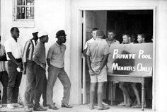 Stopped at the door of a segregated pool.
