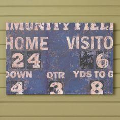 Score! Vintage Scoreboard Football or Baseball Sports Nursery Wall Art | Baby Lifestyles