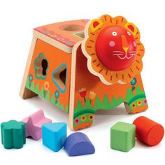 Djeco Lion Shape Sorter and other wooden toys and gifts for kids of all ages here! Shop today and we dispatch orders fast and we wrap gifts for free. Wooden Toys For Toddlers, Toddler Toys, Leo Lion, Wooden Shapes, Little People, Educational Toys, Cool Toys, Gifts For Kids, Playroom