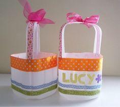 Milk jug Easter baskets. #diy #MilkJugs