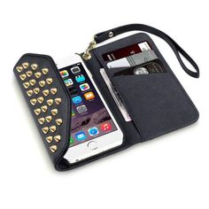 Köp plånboksfodral med nitar till iPhone 6 & 6S online: http://www.phonelife.se/terrapin-mobilplanbok-apple-iphone-6-nitar-svart