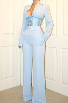 Blue all blue blue outfit blue fashion Korean fashion blue Korean fashion blue dress blue pants blue shirt tees shoes summer winter spring kpop blue sky blue navy blue shades of blue aesthetic ulzzang fashion Suit Fashion, Look Fashion, Fashion Dresses, Fashion Design, Lolita Fashion, Blue Fashion, Stage Outfits, Mode Outfits, Classy Outfits