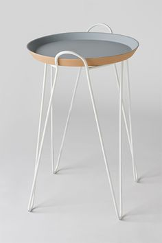 Side table with metal structure