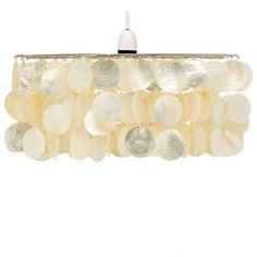 Capiz Shell Pendant Shade Cream