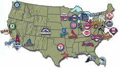 Visit all the Major League Baseball Stadiums!!!