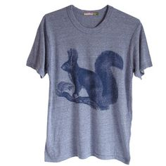 Squirrel Heather Tee Unisex, $43, now featured on Fab.