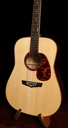 Win a Guitar - 2013 Lichty Guitar Raffle to benefit LEAF - handcrafted ambrosia maple dreadnought guitar