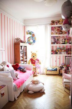 pink stripe walls