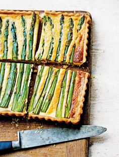 Jamie's Asparagus And Pecorino Tart Recipe